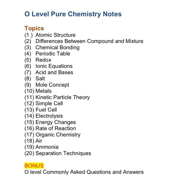 2015 sngs o levels pure chemistry study notes set a 2017 olevelpurechemistryrevisionnotes14945911674120150d olevelpurechemistryrevisionnotes14945911673a62354e urtaz Images
