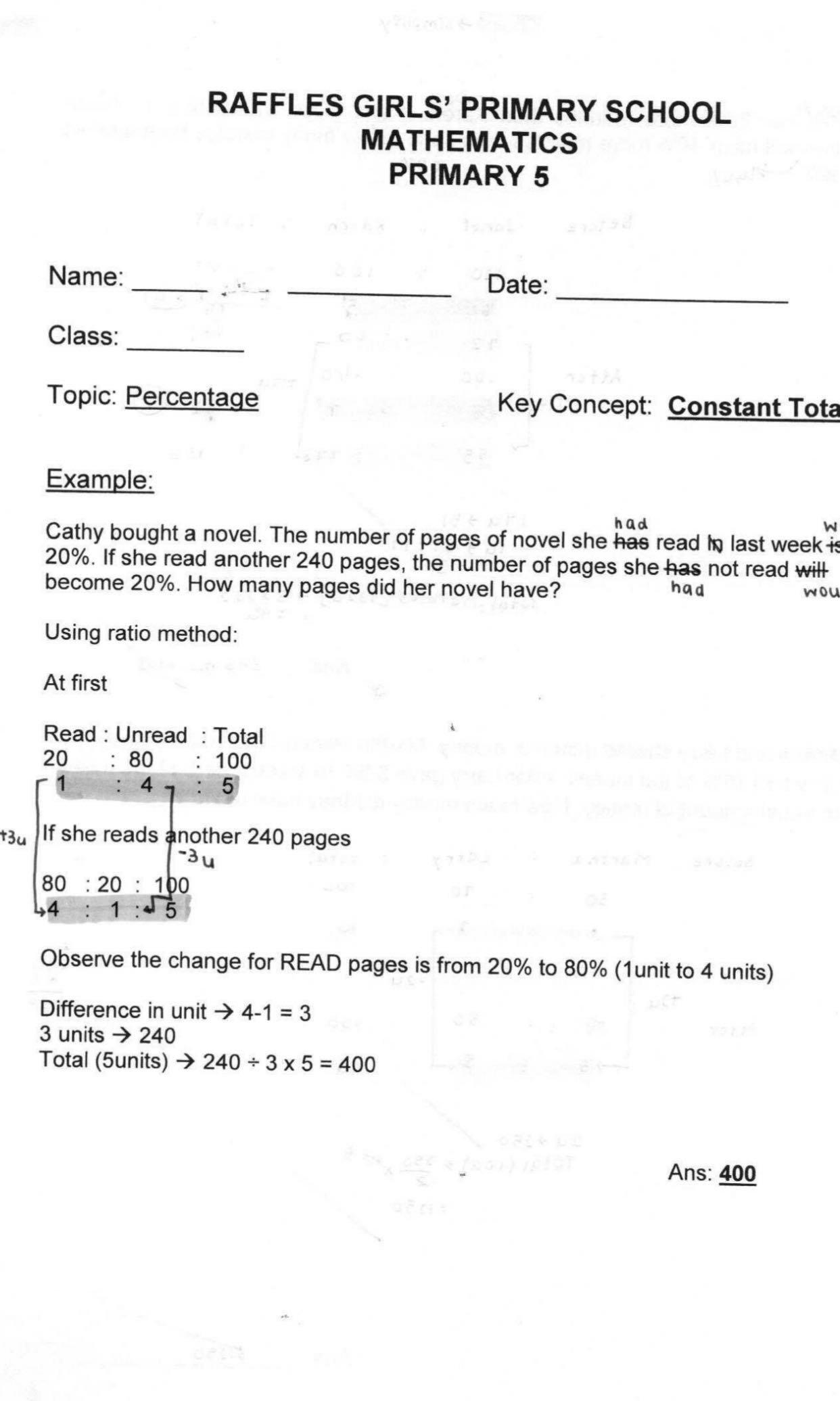 RGPS PSLE Mathematics Revision and Study Notes (soft copy) | Kiasu ...