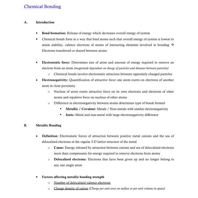 Chemistry 120L exam study notes